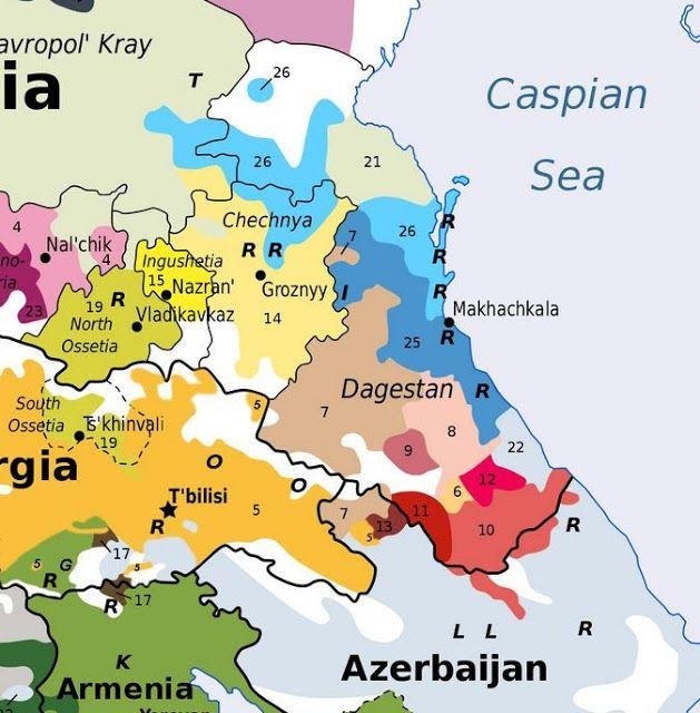 A kaukázusi katonai történelmi térkép